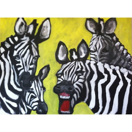 Amused Zebra (100cm x 80cm)