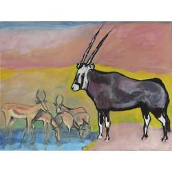 Oryx Springbok (80cm x 60cm)