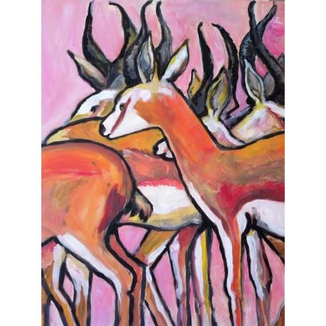 Springboks (80cm x 60cm)