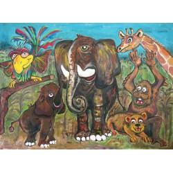 Orlando's Africans  (80cm x 60cm)